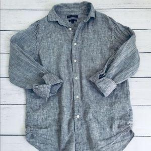 Banana Republic Candam Standard fit linen shirt S